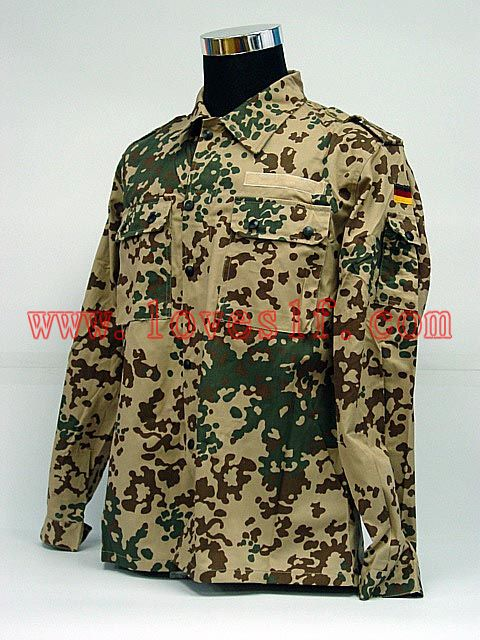 German Military Army Desert Camo BDU Uniform Set Shirt Pants
