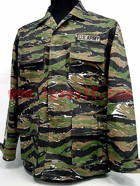 US Army Vietnam War Tiger Stripe Camo BDU Uniform Shirt Pants