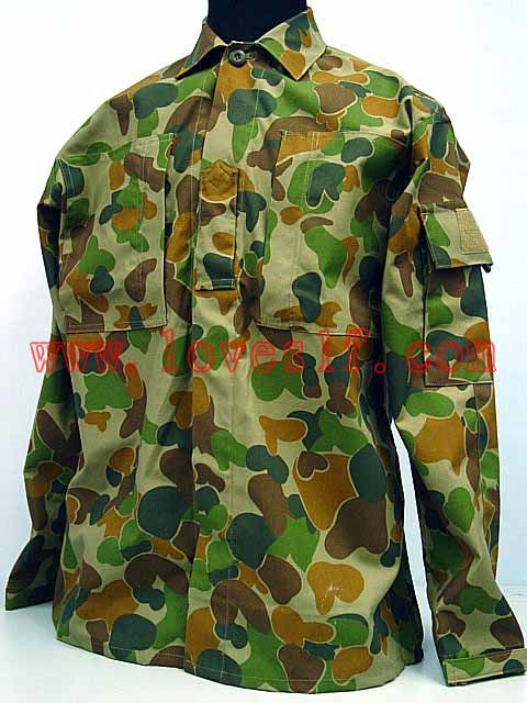 Australian Army Camo Woodland Military Auscam BDU Uniform Set